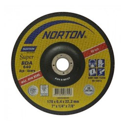 "Disco Desbaste 7"" 180 X 22.2 6.4mm Ferro [ BDA640 ] - Norton"