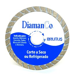 Disco Diamantado 110 4.3/8  Seco Turbo Brutus [ BRUTUS ] - Diamanco