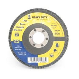 Disco Flap 4.1/2 115 X 22.2  G- 120 Curvo Inox [ 122942 ] - Heavy Duty