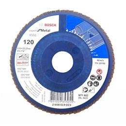 """Disco Flap 4.1/2"""" 115 X 22.2 G-120 Reto Metal [ 2608619023 ] - Bosch"""