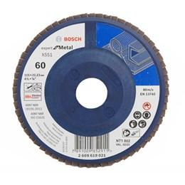 Disco Flap 4.1/2 115 X 22.2  G- 60 Reto Metal [ 2608619021 ] - Bosch