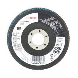 Disco Flap 4.1/2 115 X 22.2  G- 80 Curvo Inox [ 2608608265 ] - Bosch