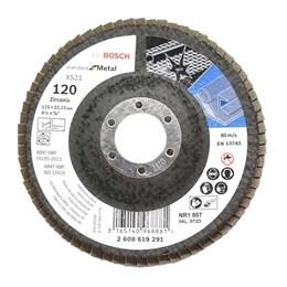 Disco Flap 4.1/2 115 X 22.23  G- 120 Curvo Metal [ 2608619291 ] - Bosch