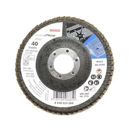 Disco Flap 4.1/2 115 X 22.23  G- 40 Curvo Metal [ 2608619288 ] - Bosch