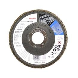 Disco Flap 4.1/2 115 X 22.23  G- 80 Curvo Metal [ 2608619290 ] - Bosch