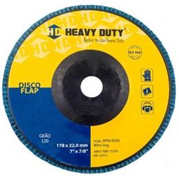 Disco Flap 7 178 X 22.2  G- 120 Curvo Inox [ 122946 ] - Heavy Duty