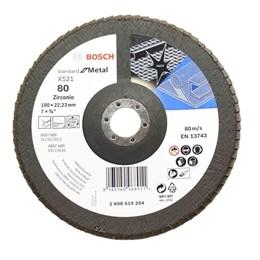 """Disco Flap 7"""" 180 X 22.23 G- 80 Curvo Metal [ 2608608294 ] - Bosch"""