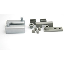Dobradiça para Vidro Zamac Cromo/Acetinado Db 100 Par [ DB100 ] - Rometal
