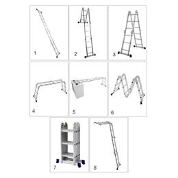Escada Alumínio Articulada 8 em 1 12 Degraus 1.63 X 3.36 [ 5131 ] - Mor