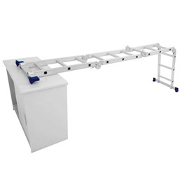 Escada Alumínio Articulada 8 em 1 12 Degraus com Plataforma [ 5133 ] - Mor