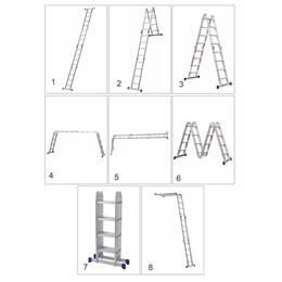 Escada Alumínio Articulada 8 em 1 16 Degraus 2.26 X 4.71 [ 5132 ] - Mor