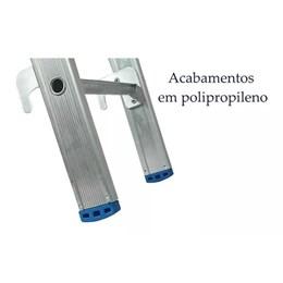 Escada Alumínio de Abrir e Extensiva 15 Degraus  [ 4328 ] - Alumasa