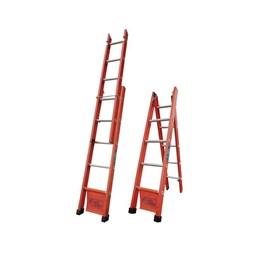 Escada Fibra de Abrir e Extensível 05 Degraus 1.65 X 2.57 [ AEF-05 ] - Santa Catarina