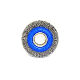 Escova de Aço Rotativa Circular 100x19MM Ondulada Aço Carbono [ 06657 ] - Inebras