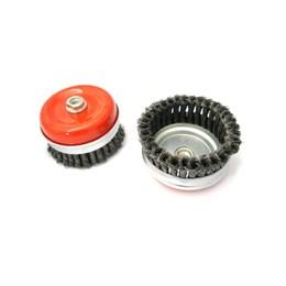 Escova de Aço Rotativa Taça 125MM Trançada Aço Carbono [ 07244 ] - Inebras