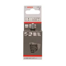 Escova de Aço Rotativa Taça 25MM Ondulada Aço Carbono com Haste [ 2608622127 ] - Bosch