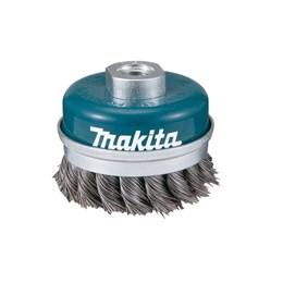Escova de Aço Rotativa Taça 60MM Trançada Aço Carbono [ D-24153 ] - Makita