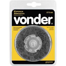 "Esponja Abrasiva 75mm com Haste 1/4"" [ 12.50.001.001 ] - Vonder"
