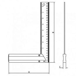 Esquadro - 12 Alumínio [ 43171/012 ] - Tramontina