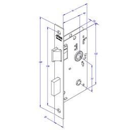 Fechadura Banheiro Espelho/Testa Inox 304 Litoral [ 1820/09 EI 304 ] - Stam