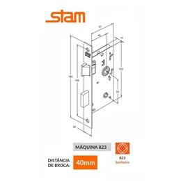 Fechadura Banheiro Roseta Quadrada Inox 823/09 RQI - Stam