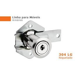 Fechadura para Armário 31 mm Niquelado Longa 304 [ 13234 (304) ] - Stam