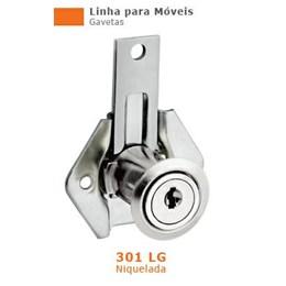 Fechadura para Gaveta  22 mm Niquelado Longa 301 [ 13096 (301LG) ] - Stam