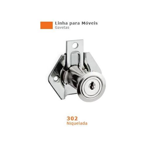 Fechadura para Gaveta  31 mm Niquelado 302 [ 13138 ] - Stam