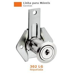Fechadura para Gaveta  31 mm Niquelado Longa 302 [ 13144 (302LG) ] - Stam