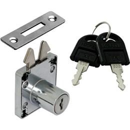 Fechadura para Móveis Porta Correr 22 mm Cromada [ 232.01.240 ] - Hafele
