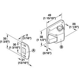 Fechadura Porta Magnética Safefix [ 245.41.792 ] - Hafele