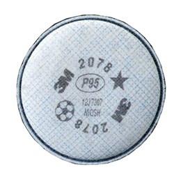 Filtro p/Respirador Vapores Org./Gases/ Poeira/Névoa com 2Pcs [ 2078 ] - 3M