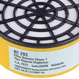 Filtro Para Respirador Vapores Orgânicos Rc 202 [ 12120312 ] - Carbografite