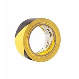 Fita Adesiva Demarcação Preto/Amarelo 48mm X 30M [ 1065504372 ] - Vonder