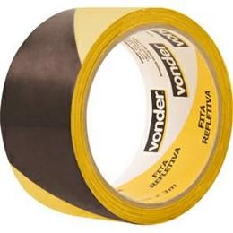 Fita Adesiva Demarcação Preto/Amarelo 50mm X 3M [ 1052250121 ] - Vonder