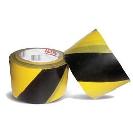 Fita de Sinalização Zebrada Preto/Amarelo 7CM X 200M [ 3138007097 ] - Adere