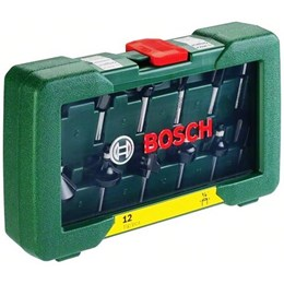 "Fresa Jogo 1/4"" 12 Peças [ 2607019465 ] - Bosch"