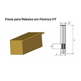 Fresa p/Rebaixo Formica Ht 1/4 [ D-03056 ] - Makita