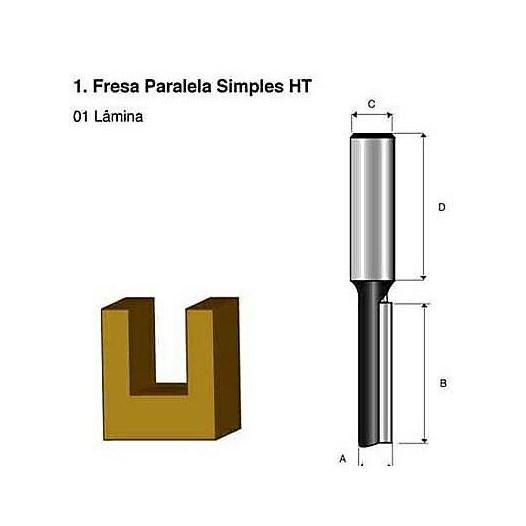 Fresa Paralela Simples Ht 1/4 [ D-01286 ] - Makita