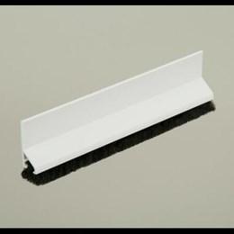 Friso Vedação Porta Pvc c/ Escova Adesivo 80cm Branco Tecnoperfil