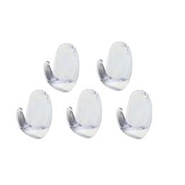 Gancho com Adesivo Scotch Pequeno Transparente 5 Peças [ HB004270458 ] - 3M