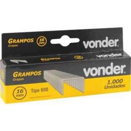 Grampo Grampeador 16MM CX 1000 [ 2898916016 ] - Vonder