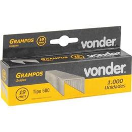 Grampo Grampeador 19MM CX 1000 [ 2898916019 ] - Vonder