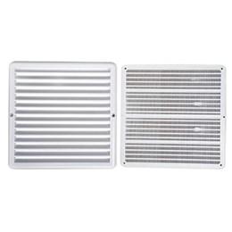 Grelha de Ventilação Quadrado Branco 25X25cm [ GQ2020 ] - Itc