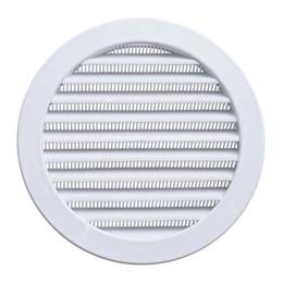 Grelha de Ventilação Redondo Branco Com Tela Anti- Inseto 200MM -[ GR200] - Itc