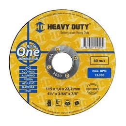 KIT Disco Corte 4.1/2 1.0MM 2T All In One Heavy Duty 50UN