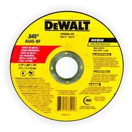 KIT Disco Corte  4.1/2 1.2mm 2T Inox DW8062-AR Dewalt 25UN