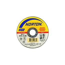 KIT Disco Corte 4.1/2 2mm 2T Alumínio SUPER BNA22 Norton 25UN