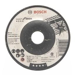 KIT Disco Desbaste 4.1/2 6.4mm 3T Inox Expert Bosch 25UN