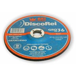 """KIT Disco Desbaste 7"""" 6.4mm Graniteiro Rei Abrasivos 50UN"""
